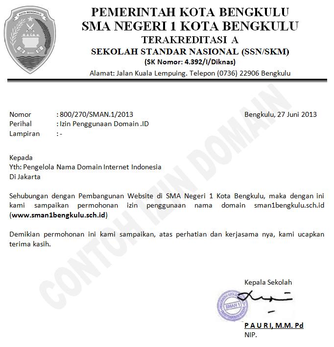 syarat domain indonesia
